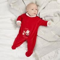 AX2531 Candy Canes  velour sleepsuit
